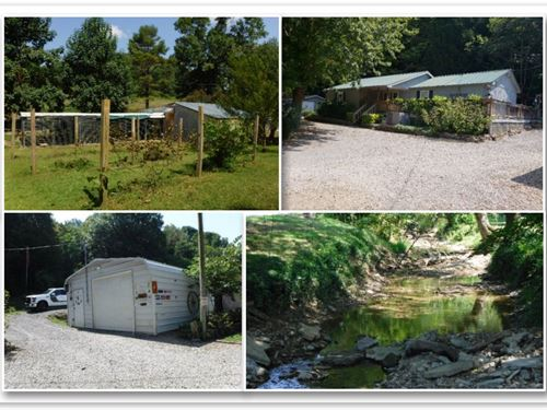 20.5 Ac, Home, Barns, Utility Build : Hartsville : Macon County : Tennessee