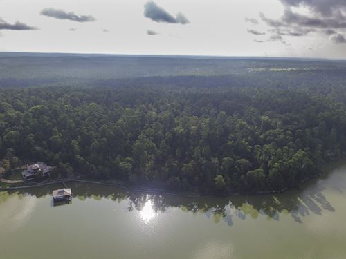 105 Acres Lakefront : Trinity : Texas