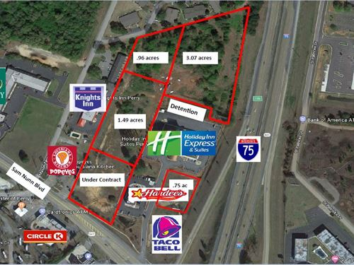 Prime Commercial Lots Sam Nunn Blvd : Perry : Houston County : Georgia