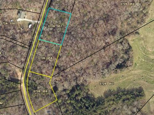 3 Wooded Lots For Sale $160,000 : Martin : Stephens County : Georgia