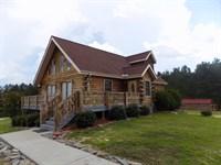 South Carolina Log Home Pond : Patrick : Chesterfield County : South Carolina