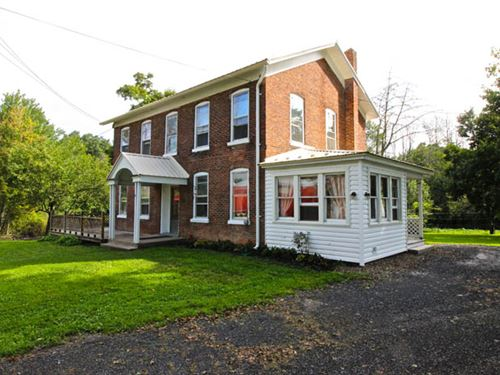 20+/- Acres, Brick Farmhouse, Bank : Shickshinny : Luzerne County : Pennsylvania