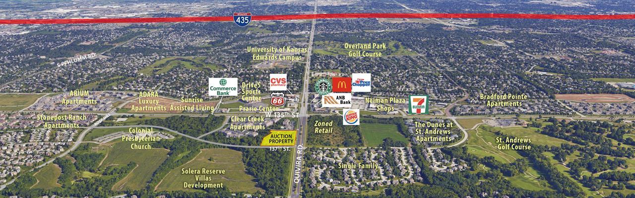 Prime Development Land Auction : Overland Park : Johnson County : Kansas