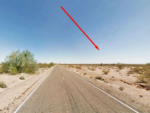 1 Flat Open Acre Of Land : Casa Grande : Pinal County : Arizona
