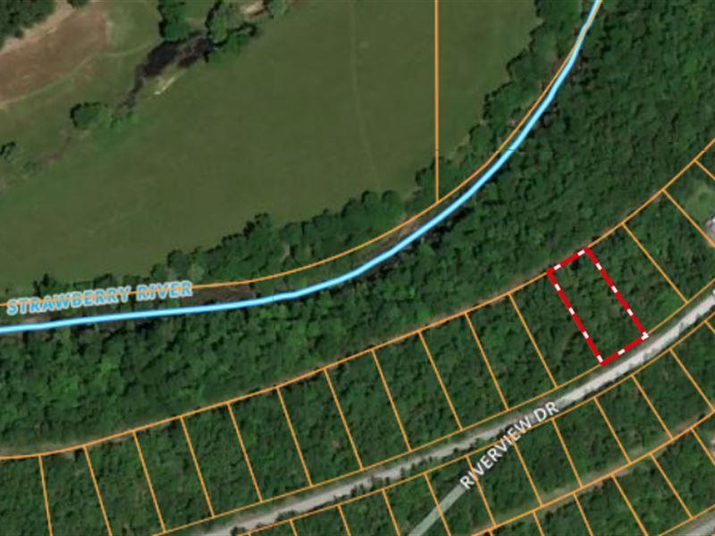 Vacant Lot Strawberry River : Horseshoe Bend : Izard County : Arkansas