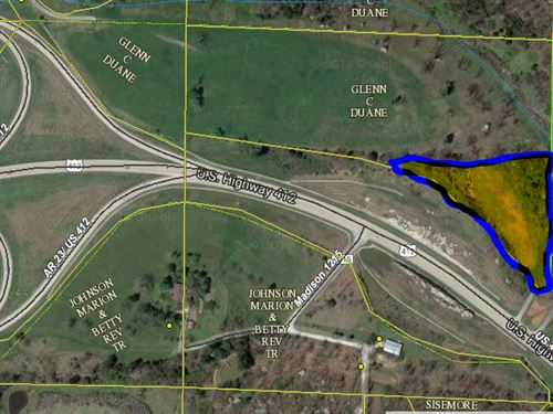 4 Acres Hwy 412 Frontage Prime : Huntsville : Madison County : Arkansas