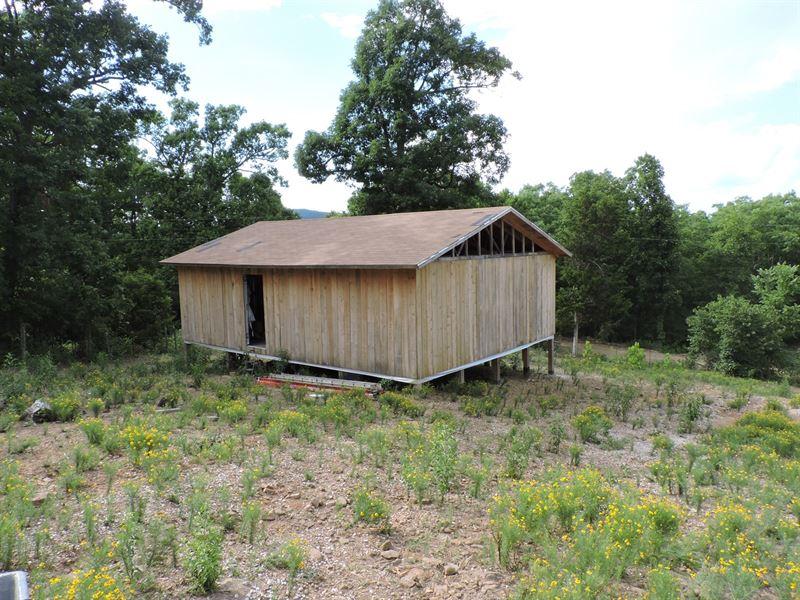 Unfinished Cabin View Buffalo River : Jasper : Newton County : Arkansas