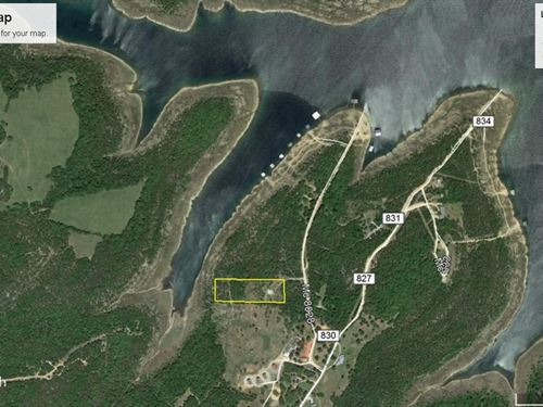3 Ac Fronting Bull Shoals Lake Well : Peel : Marion County : Arkansas