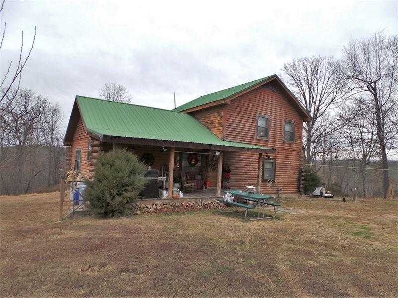 Log Home Buffalo Nat'l River Area : Saint Joe : Marion County : Arkansas