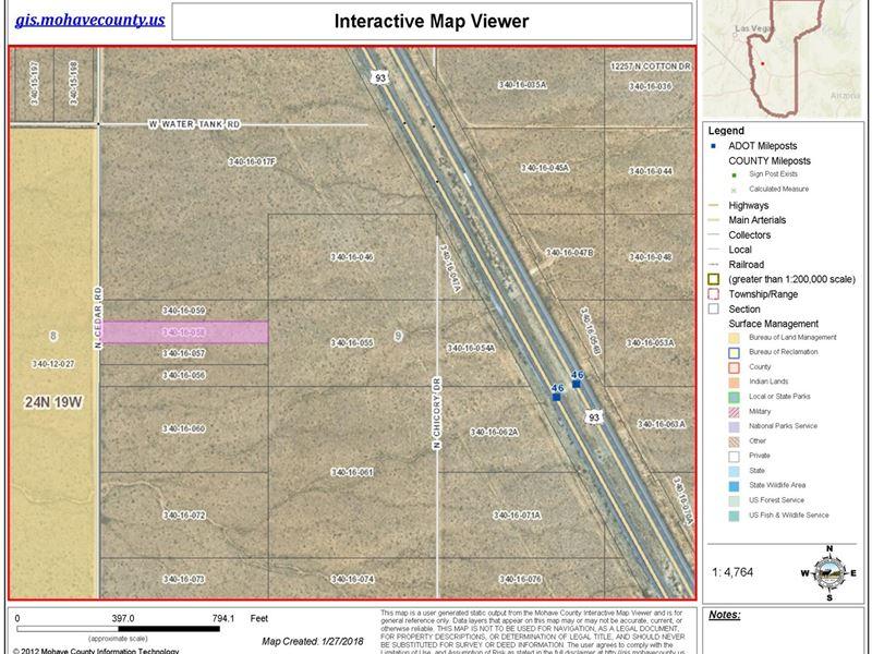 Dolan Springs Land Gateway Acres : Dolan Springs : Mohave County : Arizona