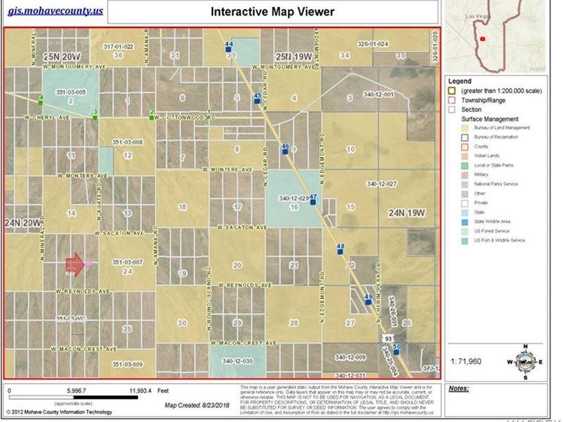 5 Acres Dolan Springs Az, Gateway : Dolan Springs : Mohave County : Arizona