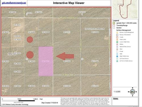 20 Acres For Sale In Yucca Arizona : Yucca : Mohave County : Arizona