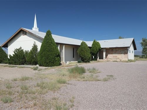 Church Building / 5 Acres Located : Benson : Cochise County : Arizona