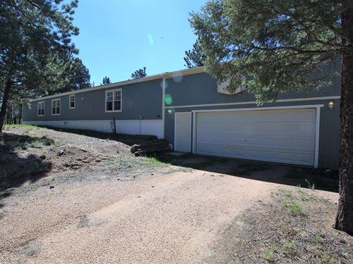 Mountain Home Right Across Road : Divide : Teller County : Colorado