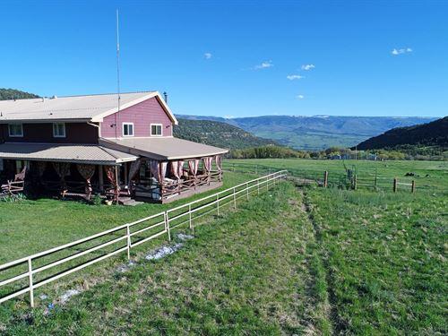 Colorado Horse Property CO Borders : Collbran : Mesa County : Colorado