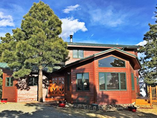 Mountain Log Home 35 Acres : Trinidad : Las Animas County : Colorado