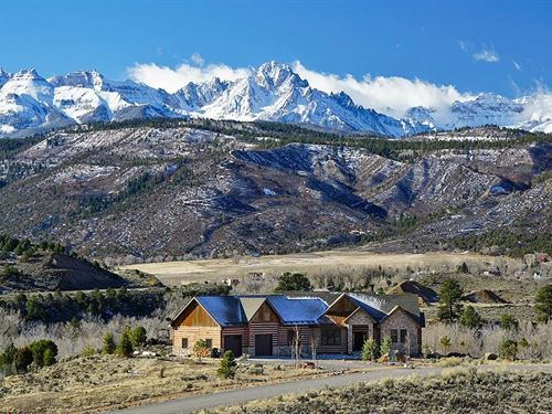 Country Mountain Custom Built Home : Ridgway : Ouray County : Colorado