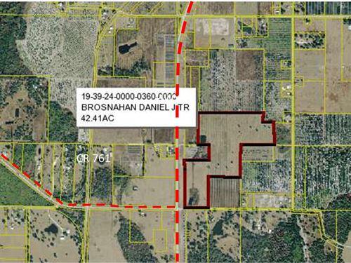 42 Acre Commercial Property Highway : Arcadia : Desoto County : Florida