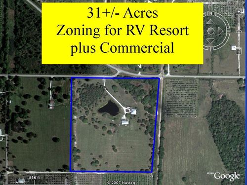 31 Acres Zoning RV Resort SW FL : Fort Ogden : Desoto County : Florida