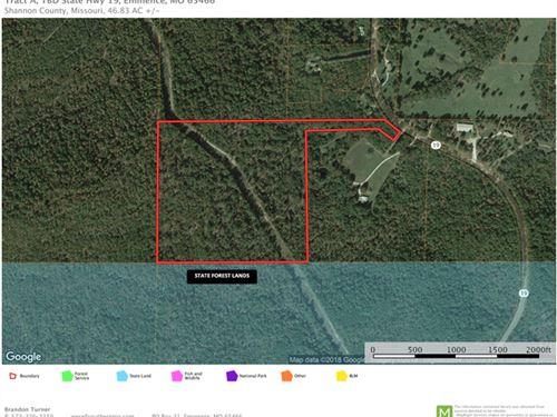 Eminence Missouri Land, 46.83 Acres : Eminence : Shannon County : Missouri