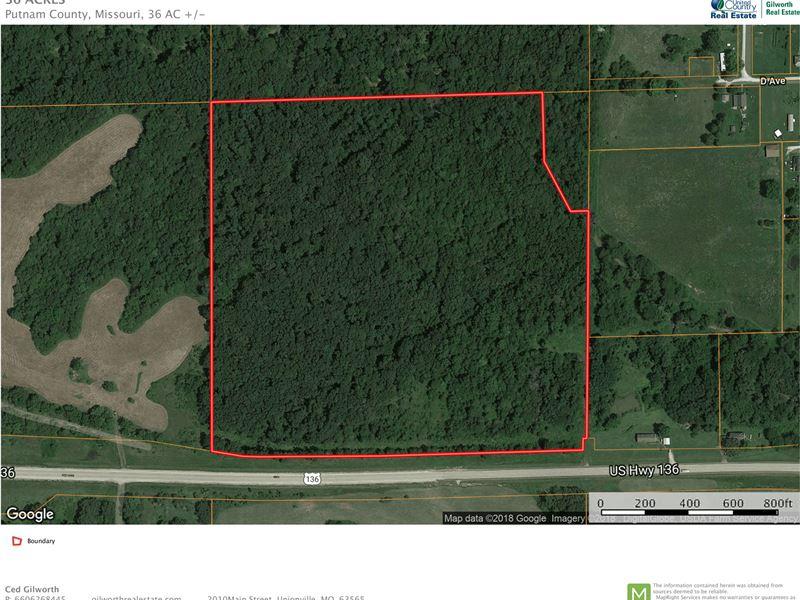 Hunting Building Acreage US Highway : Livonia : Putnam County : Missouri