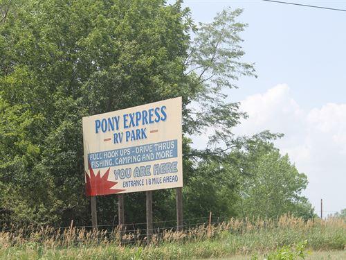 Pony Express Rv Park Maysville Mo : Maysville : Dekalb County : Missouri