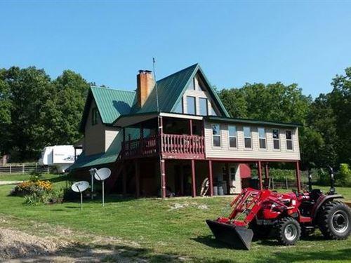 Home, Outbuildings & 100 Acres : Quincy : Saint Clair County : Missouri