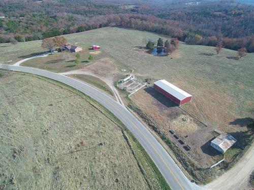 Missouri Ozarks Brick Home Acreage : Tecumseh : Ozark County : Missouri