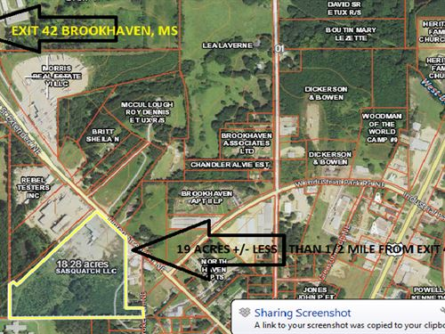 Commercial Building Land Brookhaven : Brookhaven : Lincoln County : Mississippi