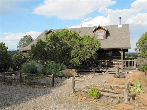 Log Home 5 Country Acres Silver : Silver City : Grant County : New Mexico