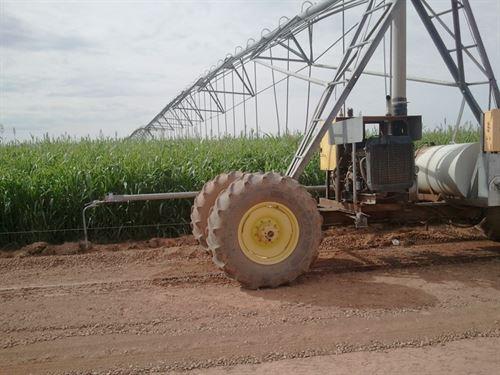 Irrigated Farm Southern New Mexico : Tularosa : Otero County : New Mexico