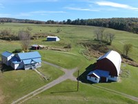 Family Farm, Good Farmhouse, Barn : Endicott : Broome County : New York