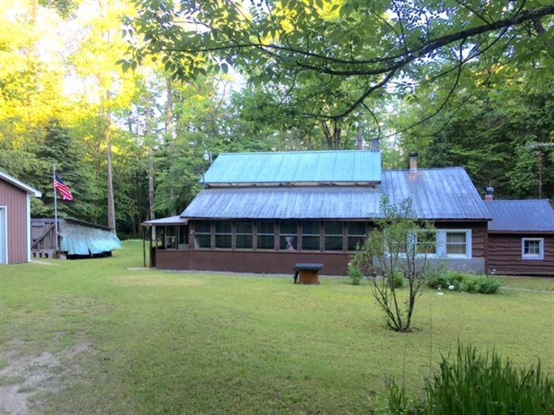 Adirondack Cabin With Acreage : Stratford : Fulton County : New York