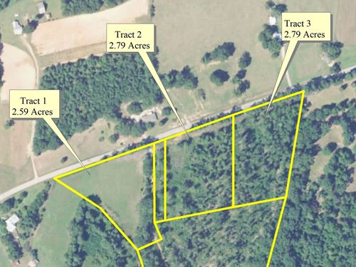 2.79 Acre Stoney Hill Home Site : Prosperity : Newberry County : South Carolina