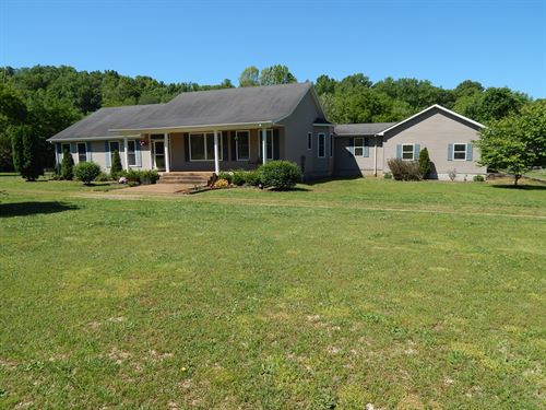 TN Country Home, 5.3 Acres Small : Waynesboro : Wayne County : Tennessee