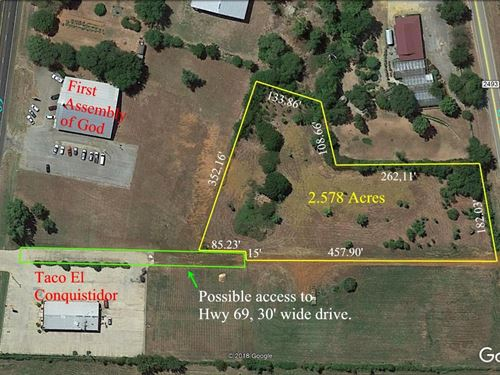 Commercial Land In Bullard, TX : Bullard : Cherokee County : Texas