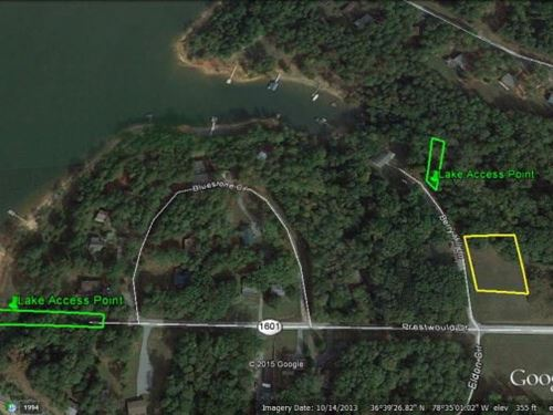 Wooded Lot Lake Access Buggs Island : Clarksville : Mecklenburg County : Virginia