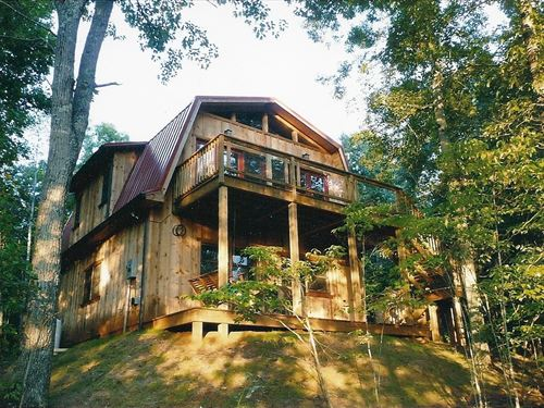 Custom Built Chalet 46 Acres : Gretna : Pittsylvania County : Virginia