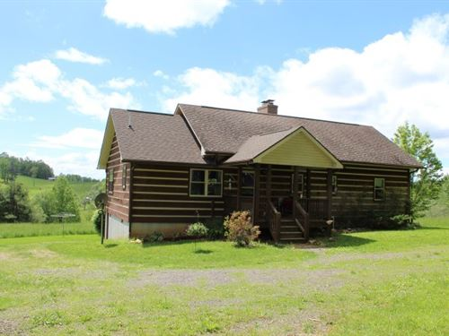 Log Home 4.76 Acres Located Carroll : Meadows Of Dan : Patrick County : Virginia