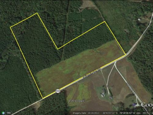 36 Acres In Southern Virginia : Skipwith : Mecklenburg County : Virginia