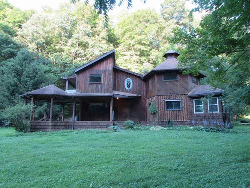 Check Out This Unique WV Log Home : Center Point : Doddridge County : West Virginia