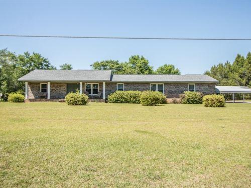 4B/2B Brick Home 20 Acres : Chancellor : Coffee County : Alabama