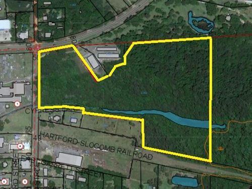 17.6 Acres Hwy 52 / South Main St : Malvern : Geneva County : Alabama