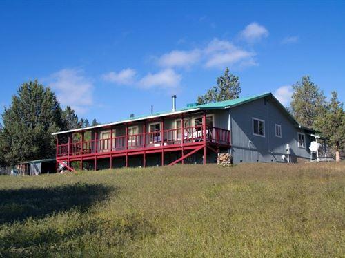 156.5 Acres Spacious Home, Shop : Adin : Lassen County : California