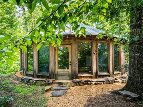 92.22 Acres, Unique Farm Retreat : Talking Rock : Pickens County : Georgia