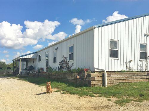 Farm House 40 Acres Southern Iowa : Mount Ayr : Ringgold County : Iowa