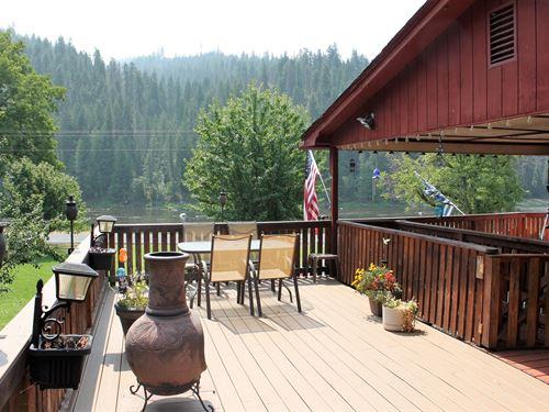 Home Overlooks Middle Fork : Kooskia : Idaho County : Idaho