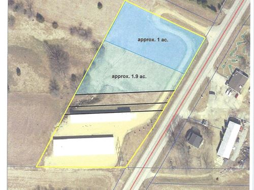 One Acre Level Commercial Building : East Dubuque : Jo Daviess County : Illinois
