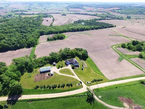 Home Crop Land & Timber Stockton : Stockton : Jo Daviess County : Illinois