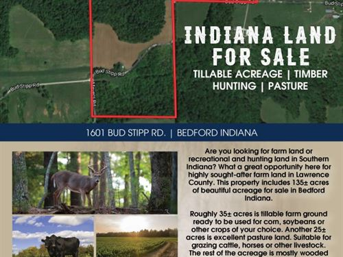 Lawrence County Indiana Farm : Bedford : Lawrence County : Indiana
